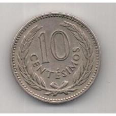 10 сентесимо, Уругвай, 1953