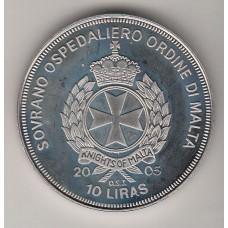 10 лир, Мальтийский орден, 2005