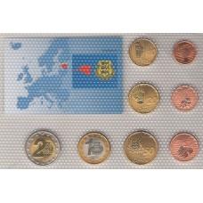 набор пробных евромонет (1,2,5,10,20,50 центов, 1,2 евро), Эстония, 2010