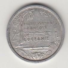 2 франка, Французская Океания, 1949