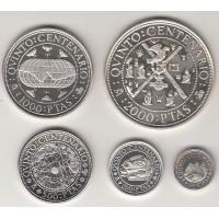 набор монет (100, 200, 500, 1000, 2000 песет), Испания, 1990