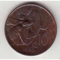10 чентезимо, Италия, 1920