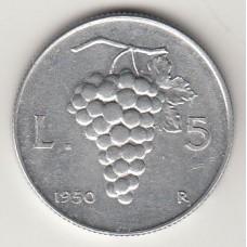 5 лир, Италия, 1950