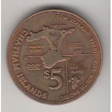 5 долларов, Острова Чатем (Новозеландские Территории), 2001