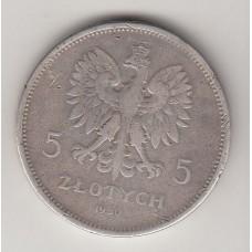 5 злотых, Польша, 1930
