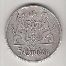 5 гульденов, Данциг, 1923