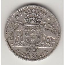 1 флорин, Австралия, 1951