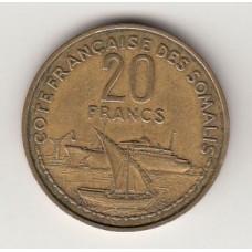 20 франков, Французское Сомали, 1952