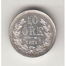 10 эре, Швеция, 1871