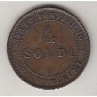 4 сольдо, Ватикан, 1868