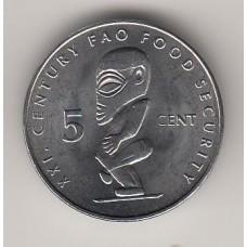 5 центов, Острова Кука, 2000