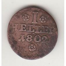 1 геллер, Липпе-Детмольд, 1802