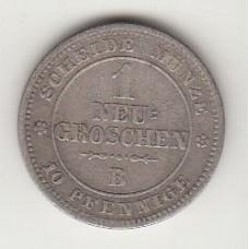 1 новый грошен, Саксония, 1863