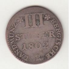 3 стювера, Берг, 1802