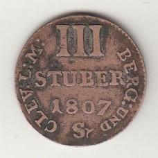 3 стювера, Берг, 1807