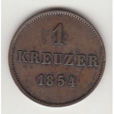 1 крейцер, Саксония-Майнинген, 1854