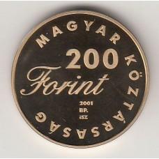 200 форинтов, Венгрия, 2001