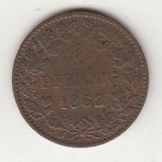 1 пфенниг, Нассау, 1862