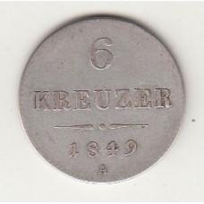 6 крейцеров, Австрия, 1849