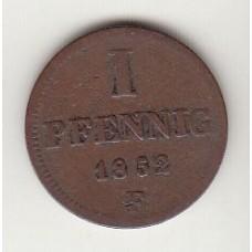 1 пфенниг, Саксен-Альтенбург, 1852