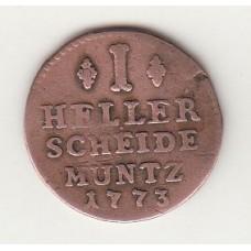 1 геллер, Ханау-Мюнценберг, 1773