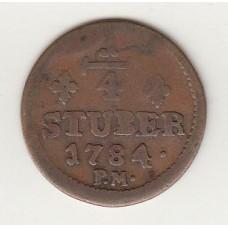 1/4 стювера, Юлих-Берг, 1784