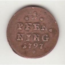 1 пфенниг, Бавария, 1797