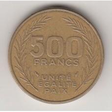500 франков, Джибути, 1989