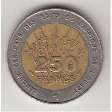 250 франков КФА, 1993