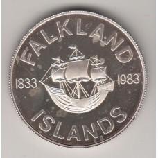 50 пенсов, Фолклендские острова, 1983