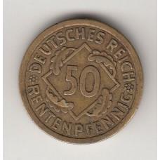 50 рентенпфеннигов, Германия, 1924