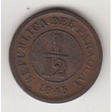 1/12 гуарани, Парагвай, 1845