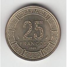 25 франков, Экваториальная Гвинея, 1985