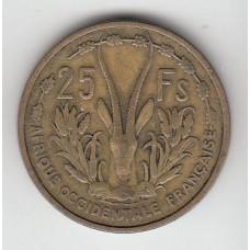 25 франков, Французская Западная Африка, 1956