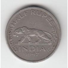 1/2 рупии, Индия, 1947