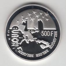 500 франков, Бельгия, 2001