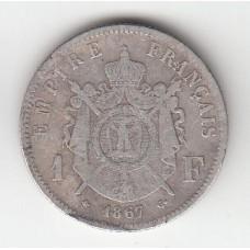1 франк, Франция, 1867