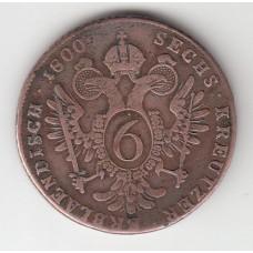 6 крейцеров, Австрия, 1800