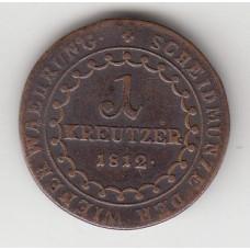 1 крейцер, Австрия, 1812