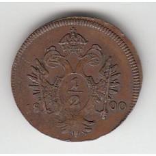 1/2 крейцера, Австрия, 1800