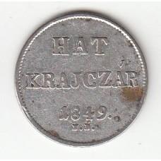 6 крейцеров, Венгрия, 1849