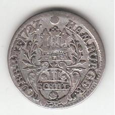2 шиллинга, Гамбург, 1727