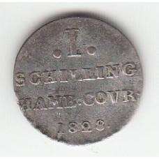 1 шиллинг, Гамбург, 1828