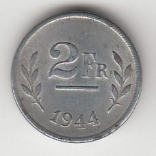 2 франка, Бельгия, 1944