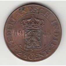 2,5 цента, Нидерландская Индия, 1945