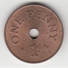 1 пенни, Замбия, 1966