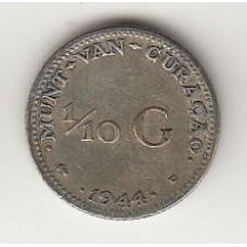 1/10 гульдена, Кюрасао, 1944, albonumismatico.su