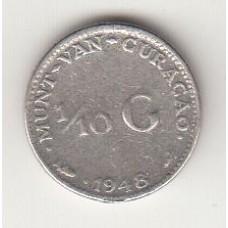 1/10 гульдена, Кюрасао, 1948, albonumismatico.su