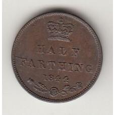 монета 1/2 фартинга, Великобритания, 1844год , стоимость , цена