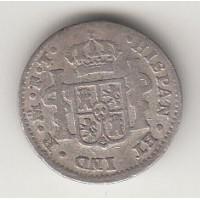 1/2 реала, Испания, 1802